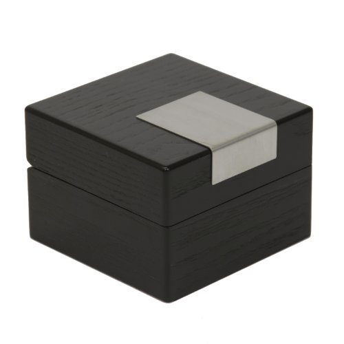 Tech Swiss TSBX100BK Engravable Single Extra Large Watch Box Wood Black