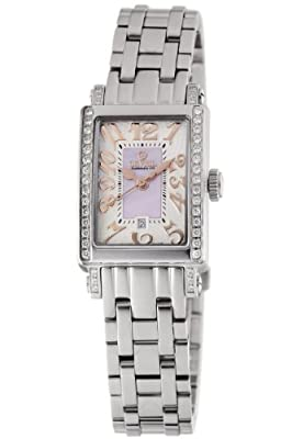 Gevril Women's 8428REB Super Mini Quartz Pink Mother of Pearl Diamond Watch