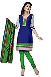 Riddhi Dresses Women's Cotton Unstitched Dress Material (Riddhi Dresses 90_Multi Coloured_Free Size)