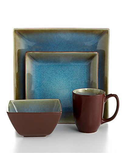 The Cellar Dinnerware Reactive 4-Piece Square Place Setting Turquoise  sc 1 st  Shopswell & The Cellar Dinnerware Reactive 4-Piece Square Place Setting ...