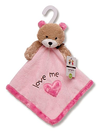 Carters Little Collections Love Me Bear Security Blanket Rattle Lovey front-1005935