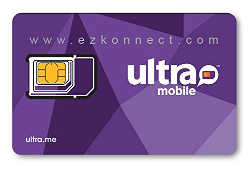 Ultra Mobile triple punch Regular - Micro and Nano all in one SIM Card works on Unlocked GSM Phones including iPhone Android