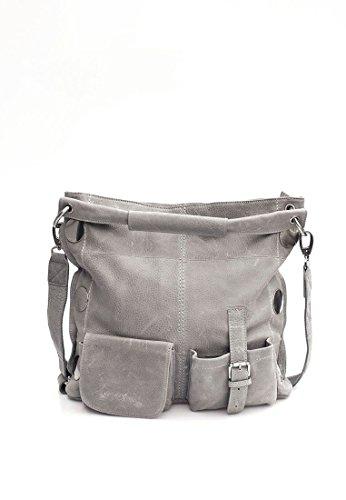 Schu(h)tzengel Torina borsa tote pelle 39 cm st. grey
