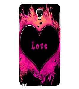 ColourCraft Love Heart Design Back Case Cover for SAMSUNG GALAXY NOTE 3 NEO DUOS N7502