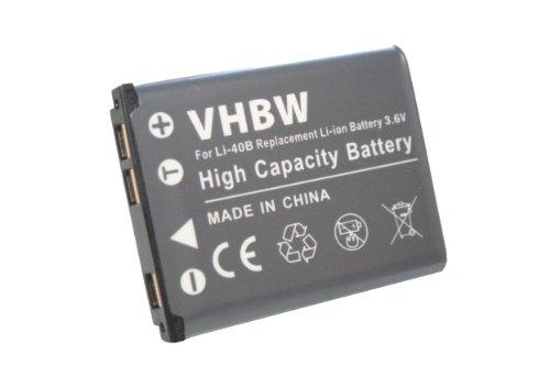 vhbw Akku 500mAh für Kamera Kodak Easyshare M215, M23, M522, M531, M531 Carbon, M532, M552, M583
