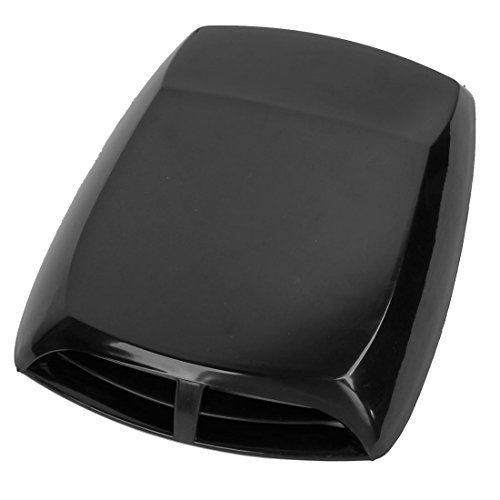 uxcell® Universal Car Air Flow Intake Scoop Turbo Bonnet Vent Cover Hood Black (Black Car Hood compare prices)