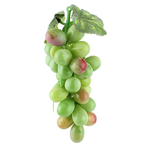 uxcell Artificial Plastic Fruit Grapes Cluster Home Office Decoration Green (Green Artificial Grapes compare prices)