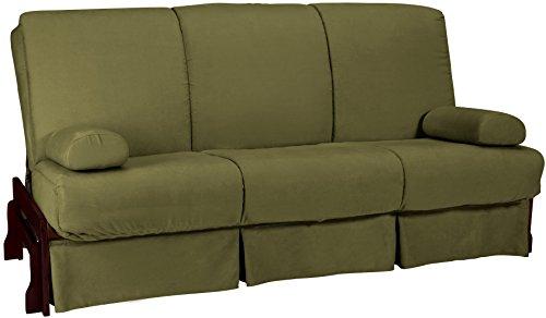 epic furnishings bristol perfect sit and sleep inner spring microfiber futon sofa sleeper bed. Black Bedroom Furniture Sets. Home Design Ideas