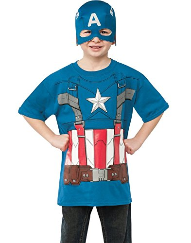 Rubies Captain America: The Winter Soldier Retro Style Costume Top and Mask