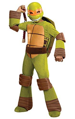 Teenage Mutant Ninja Turtles Deluxe Michelangelo Costume, Small