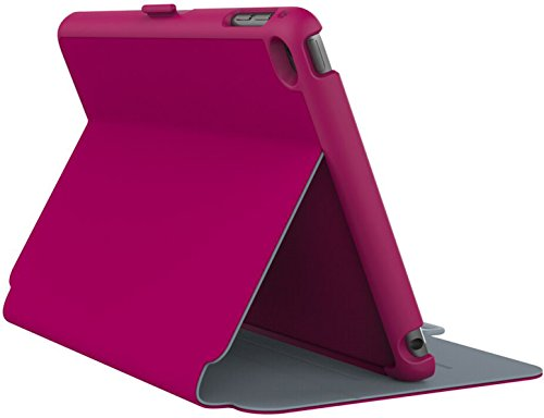 Speck Products StyleFolio Case and Stand for iPad mini 4, Fuchsia/Nickel Grey (71805-B920) (Stand Ipad 4 compare prices)