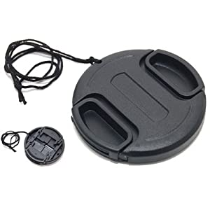 JJC 52mm Plastic Snap-on Lens Cap with lens cap keeper for Cameras and Camcorders - Canon, Leica, Nikon, Olympus, Panasonic, Pentax, Samsung, Sigma, Sony etc.