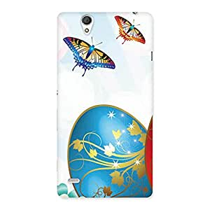 Stylish Animated Butterflies Print Back Case Cover for Sony Xperia C4