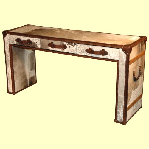 Cheap Leather Console Table W/Hair On Hide – D|LU199 (B002N6P8KG)