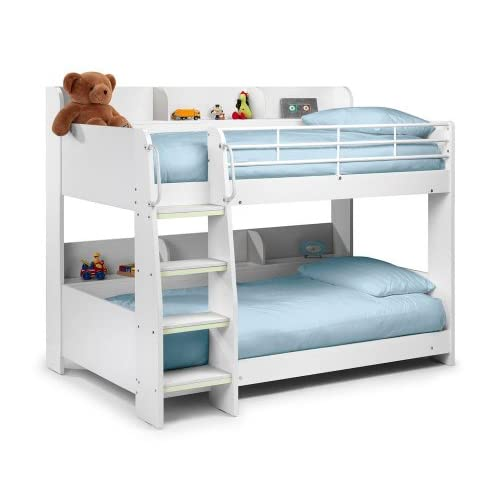 Happy Beds Domino White Finished Sleep Station Children Kids Bunk Bed Frame 3' Single
