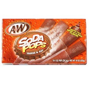 A & W Root Beer Soda Pops Freeze & Eat Popsicles