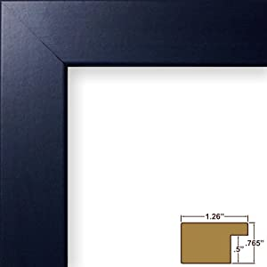 Craig Frames 26025 8 by 8-Inch Picture Frame, Smooth Finish, 1.25-Inch Wide, Blue
