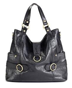 timi & leslie Hannah 7-Piece Diaper Bag Set, Black