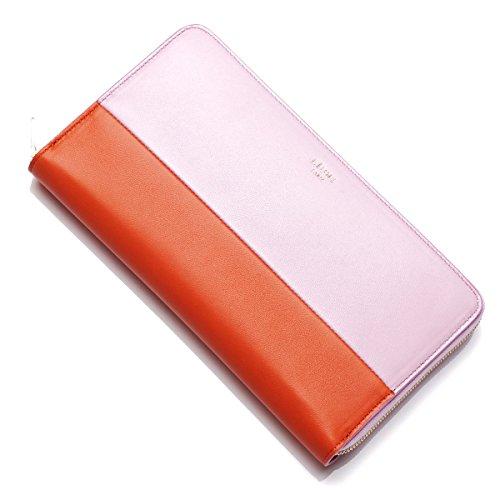 (セリーヌ) CELINE ラウンドファスナー 長財布[小銭入れ付き] Large Zipped Multifunction LEATHER Pink×Orange [並行輸入品]