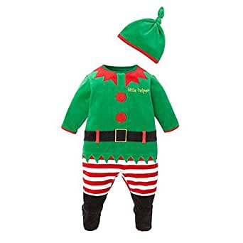 Kiss U Baby Costumes Christmas Halloween Santas Lil Elf Jumpsuit