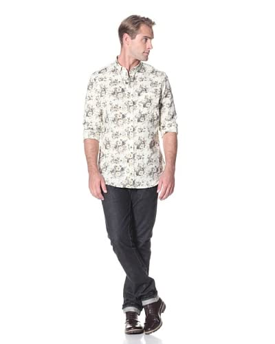 French Connection Men's Bucket Floral Button Down Shirt