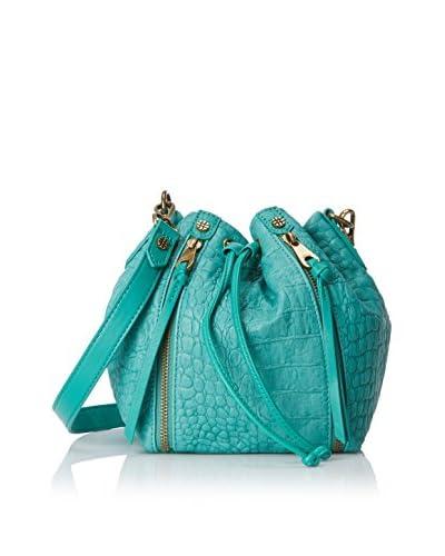Joelle Hawkens Women's Dakota Drawstring Bag, Aqua