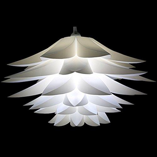 Diy lotus lampenschirm weiß, miri puzzle iq deckenlampenschirm ...