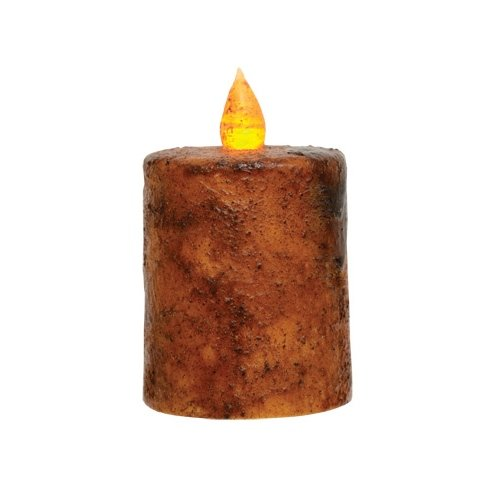 CWI Gifts 2-Piece Timer Pillar Candle Set, 2.5-Inch, Burnt Mustard