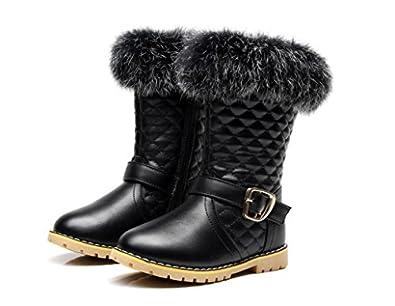 Amazon.com: Black Toddler Girl Shoes Non-slip Pretty Fur