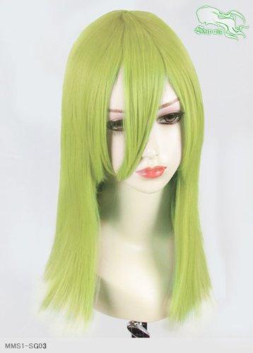 スキップウィッグ 魅せる シャープ 小顔に特化したコスプレアレンジウィッグ フェアリーミディ スプリンググリーン