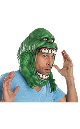 Officially Licensed Slimer from Ghostbusters Full Head Mask.