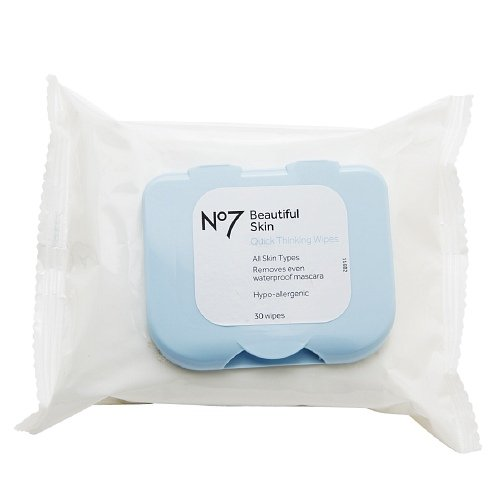 Boots No7 Quick Thinking 4-in-1 Wipes 30 ea pack of 3 (No 7 Quick Thinking Wipes compare prices)