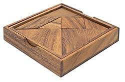 Tangram: A Classic Chinese Handmade Wooden Puzzle for Adults from SiamMandalay from SiamMandalay