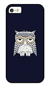 """Humor Gang Stoned Owl Printed Designer Mobile Back Cover For """"Apple Iphone 5-5s"""" (3D, Glossy, Premium Quality Snap On Case)"""