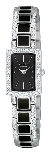 Citizen Women's Eco-Drive Normandie Black Resin Watch #EG2710-54E