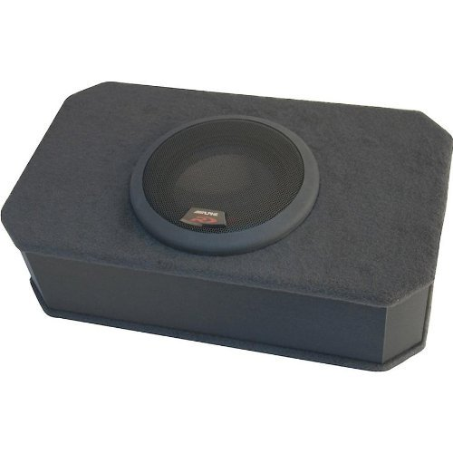 Alpine Sbr-S8-4 Slim Box Car Ported Enclosure With One 8 Inch Type-R Under Seat Subwoofer 1000 Watts Peak Power