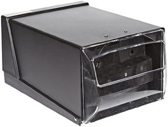 "San Jamar H3001 Countertop Fullfold Napkin Dispenser, 300 Capacity, 7-5/8"" Width x 5-1/2"" Height x 11"" Depth, Clear/Black"