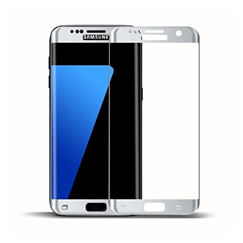 Galaxy S7 Edge Screen Protector, Lwang 3D Curved Full Screen Coverage Premium Tempered Glass Screen Guard Film for Samsung Galaxy S7 Edge HD Clear (Glass Silver)