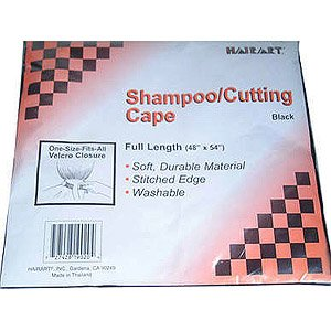 HAIRART Shampoo Cape Black (Model: 9020B)