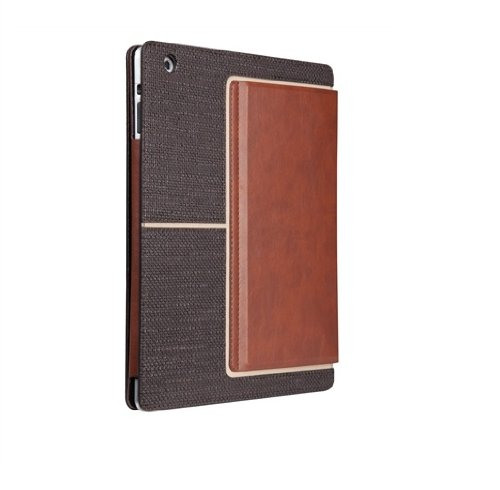 Case-Mate 日本正規品 iPad Retinaディスプレイモデル (第4世代) / iPad (第3世代) / iPad 2 対応 Venture Case, Textured Dark Brown / Light Brown スタンド機能つき ブックタイプ レザー調ケース「Venture」 ダークブラウン/ライトブラウン CM020239