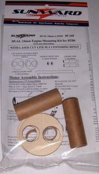 DUAL 24mm to BT80 Rocket Engine Mounting Kit