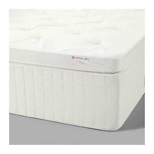 Ikea hjellestad pocket mattress queen size medium firm - Ikea queen size box spring ...