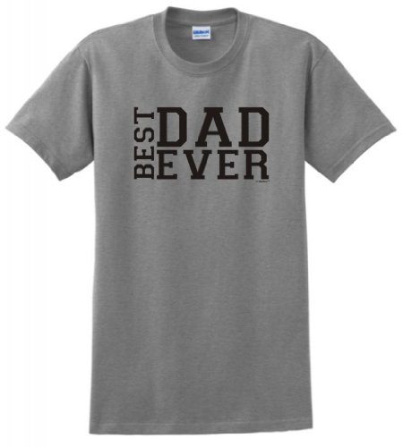 Best Dad Ever Father'S Day T-Shirt Medium Sport Grey