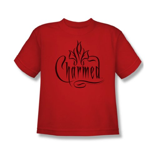 cbs-charmed-charmed-logo-maglietta-per-ragazzi-colore-rosso-rosso-medium