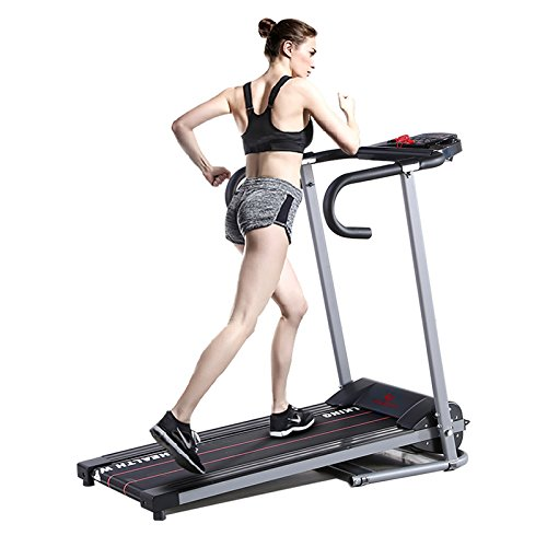 Fitnessclub 500W Folding Electrical Running Motorized Machine Treadmill Fitness Exercise Grey Black (Exercise Machine Treadmill compare prices)