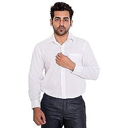 Wardtrobe 100% Cotton Men's Regular fit Formal Shirt (Size:48)
