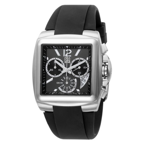 ESQ by Movado Men8217;s 7301334 Bracer Black Silicon Strap Black Dial
