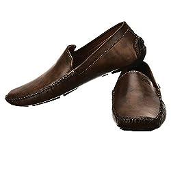 Brandvilla loafers shoes For Men Colour Brown