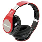 Bluedio R+ Bluetooth Stereo Hi-fi Headphones the Upgrade Version of R Supports NFC Aptx Audio Suppression Solution Bluetooth4.0 8 Tracks 8 Driver Units Support Line-in Mode Multi-media Playing Micro-sd Card(32GB) Playing wireless Headphones (Red)