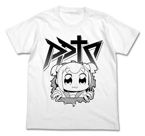 ポプテピピック 腹ポプ Tシャツ ホワイト XLサイズ